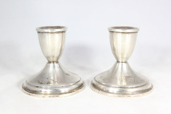 "Pair of Weighted Sterling Silver Duchin Creation 3.5"" Candlesticks"