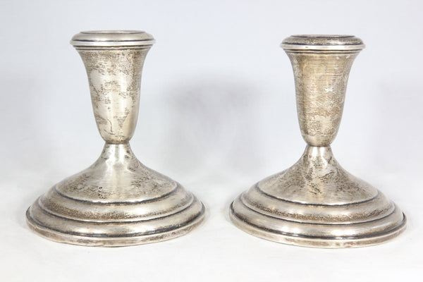 "Pair of Weighted Sterling Silver Towle 4.25"" Candlesticks"