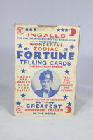 Antique Ingalls' Wonderful Zodiac Fortune Telling Cards, 1930s