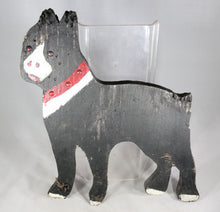 Load image into Gallery viewer, Antique Folk Art Boston Terrier Dog Hand-Painted Wooden Lawn Ornament