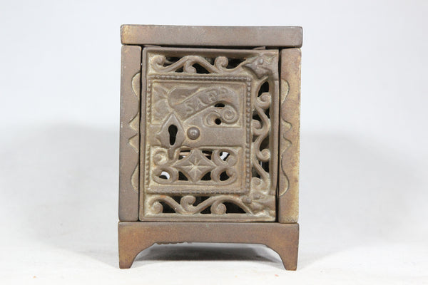 Antique Cast Iron Safe Coin Bank, 1896