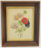 Vintage Framed Fabric Painting of Colorful Flowers, Signed E. MacNutt - 11.5 x 14""