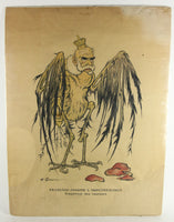 "Francois-Joseph ""Emperor of the Vultures"" WWI French Poster - 23.5 x 31.5"""