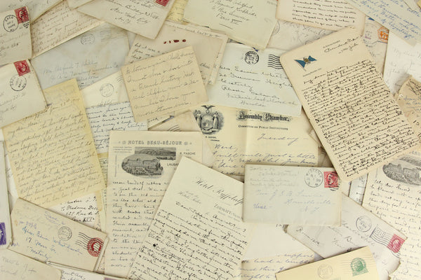 Assorted Antique (Pre-1960) Handwritten Letters and Correspondence