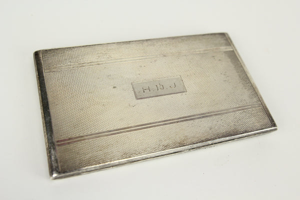 Antique Shreve, Crump, & Low Sterling Silver Cigarette Case with HDJ Monogram
