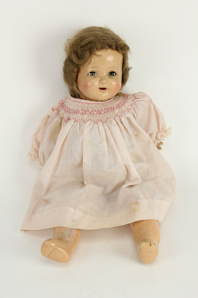 Antique American Character Co. Composition Doll with Wig and Sleep Eyes, 16""