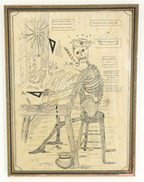 Skeleton Drawing by Elsie O. Horsman, Fore River Shipyard, Quincy, MA 1905