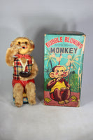 Bubble Blowing Monkey with Lighted Eyes Battery Operated Toy in Original Box