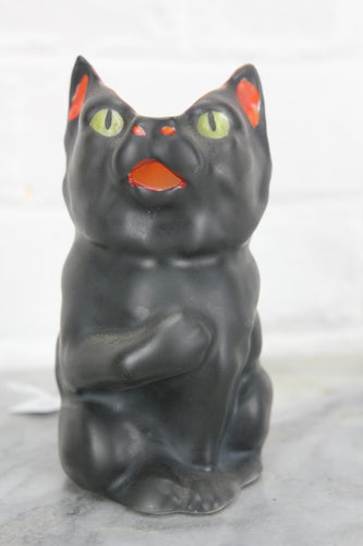 Royal Bayreuth Figural Black Cat Creamer