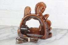 Load image into Gallery viewer, Mid-Century Brown Horse Ceramic TV Lamp