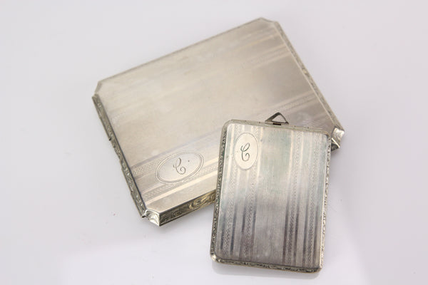 "Matching Monogrammed ""C"" Cigarette Case and Compact by M.S.P. Co."