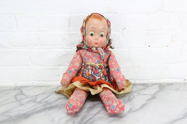 Ralph Freundlich Goo-Goo Googly Eyed Composition Doll, 20""