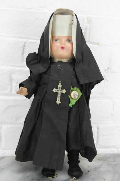 One-Armed Our Little Sister Composition Nun Doll, 13""