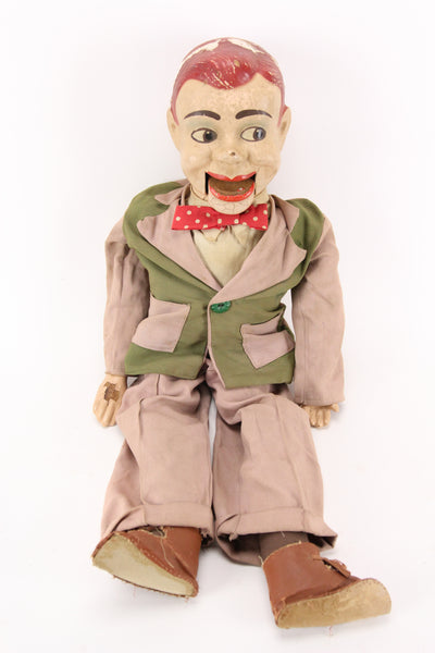 Early Paul Winchell's Jerry Mahoney Ventriloquist Dummy with Composition Head