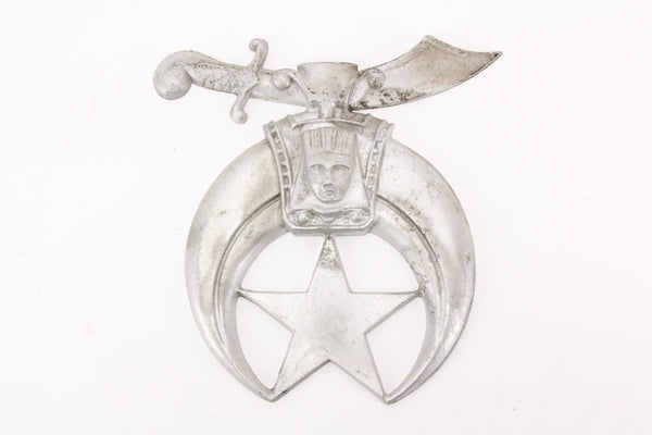 Solid Cast Aluminum Shriners Masonic Wall Hanger Plaque