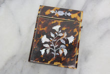 Load image into Gallery viewer, Antique Toirtose Shell Calling Card Case with Mother of Pearl Inlay