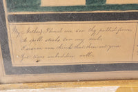 Artist Signed Watercolor Painting Mourning Members of the Aldrich Family, c. 1850