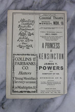 Load image into Gallery viewer, Antique Playbill from Colonial Theatre, Boston, Week of Nov. 9, 1903