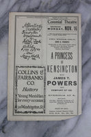 Antique Playbill from Colonial Theatre, Boston, Week of Nov. 9, 1903