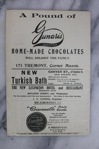 Antique Playbill from Park Theatre, Boston, Week of Nov. 23, 1903