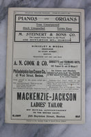 Antique Playbill from Hollis St. Theatre, Boston, Week of April 6, 1903 - Featuring Cecil B. De Mille in Hamlet