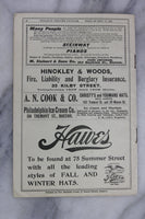 Antique Playbill from Hollis St. Theatre, Boston, Week of September 15, 1902