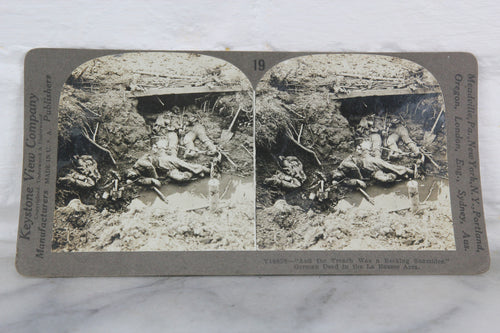 German Dead in the La Basse Area - Keystone Stereo Card