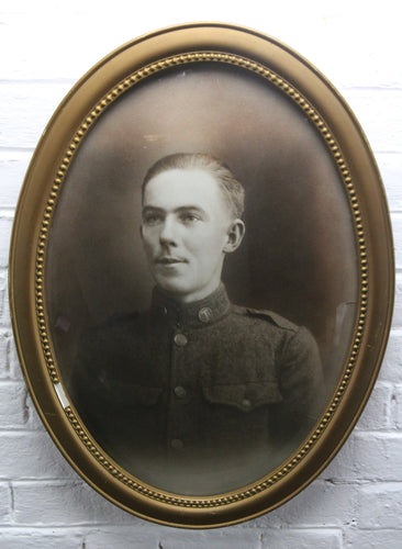 Portrait Photograph of Soldier Earl C. Wall in Bubble Frame, France, January 1, 1919 - 16