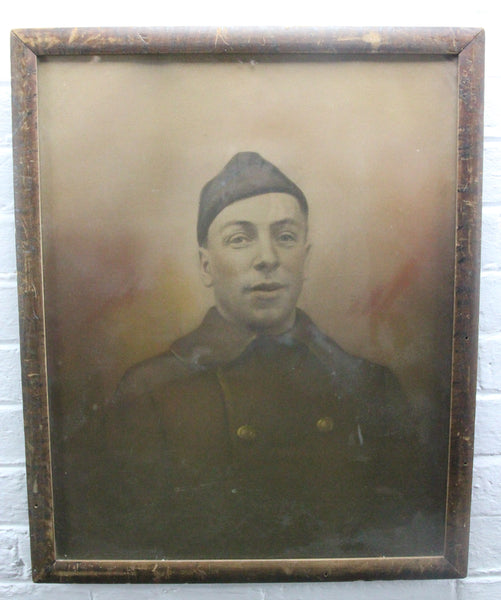 "Framed Portrait Photograph of an Unidentified World War I Era Soldier - 17.5"" x 21.5"""