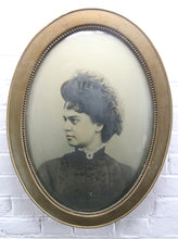 "Load image into Gallery viewer, Portrait Photograph of a Beautiful Victorian Woman in Bubble Frame - 16.5"" x 22.5"""