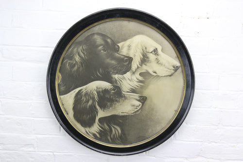 Pharaoh's Dogs Print in Round Frame - 20.5