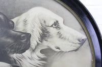 "Pharaoh's Dogs Print in Round Frame - 20.5"" x 20.5"""
