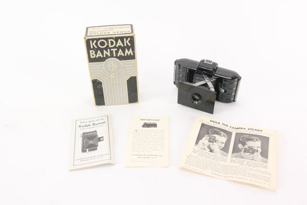 Kodak Bantam with Kodak f/6.3 Anastigmat Lens Folding Camera with Original Box