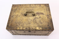 Antique Brass Strong Box with Alarm and Yale Lock, by Safety Chest Co.