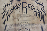 "Family Record of Stephen Auspland of Frankfort, Maine - Lithograph Copyright 1878 by John R. Staples - 17.75"" x 20.5"""