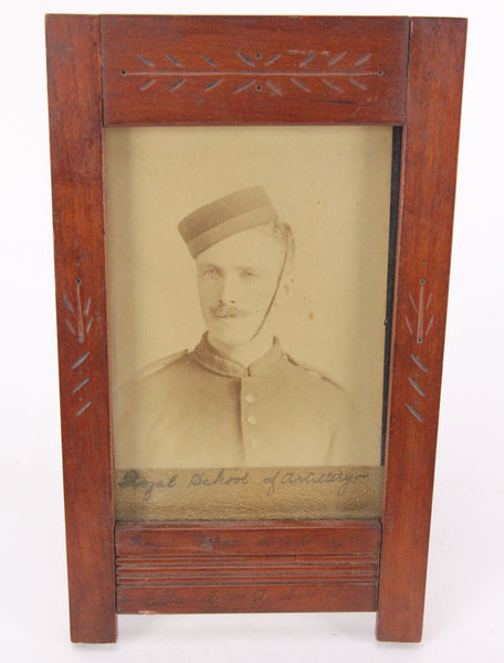 Antique Soldier Photograph from the Royal School of Artilery, Citadel of Quebec