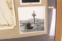 Spooky Framed Collection of Five Photos of Graves, Crosses, and Nuns