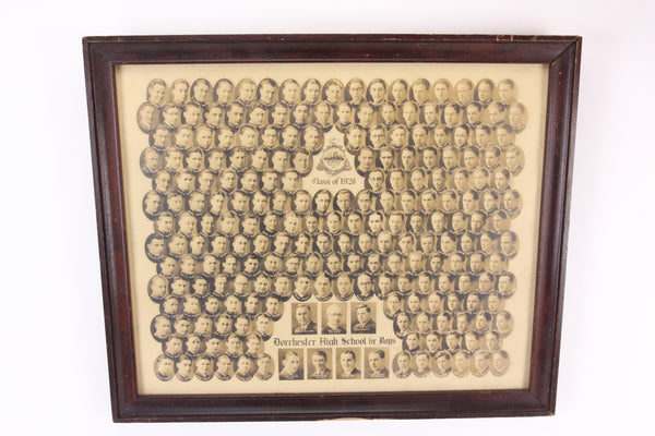 Dorchester High School for Boys Class of 1928 Photo Collage, Boston, MA