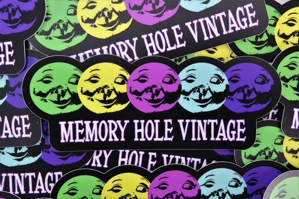 Memory Hole Vintage Die Cut Vinyl Sticker - 6""