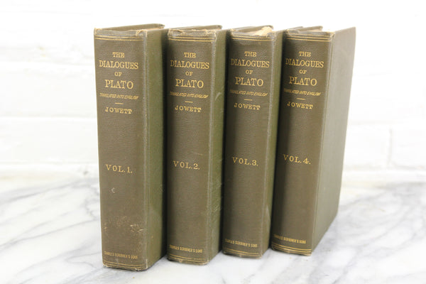 The Dialogues of Plato Four Volume Set Translated by B. Jowett, M.A., Copyright 1911