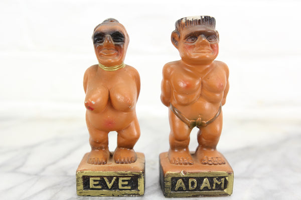 Adam and Eve Nude Novelty Salt and Pepper Shakers
