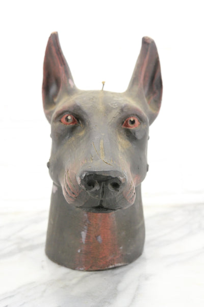 Doberman Pinscher Bust Large Novelty Candle