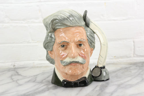 Mark Twain Royal Doulton Toby Character Jug D6554, Copyright 1979
