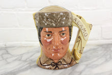 Load image into Gallery viewer, Davy Crockett & Antonio Lopez Two-Faced Royal Doulton Toby Character Jug D6729, Copyright 1984