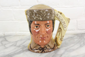 Davy Crockett & Antonio Lopez Two-Faced Royal Doulton Toby Character Jug D6729, Copyright 1984