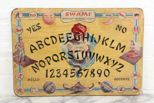 Swami Mystery Talking Board by National Novelties, Chicago, Illinois, Cicra 1940