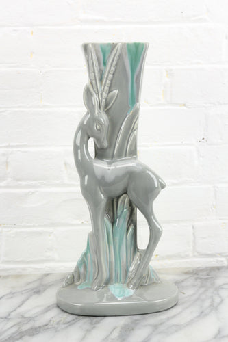 Art Deco Ceramic Standing Gazelle Planter