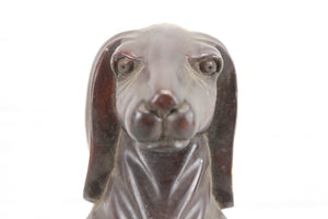 Carved Wooden Dachshund Dog Statue