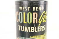 West Blend Color Glo Alluminum Tumblers, Set of 4 in Box