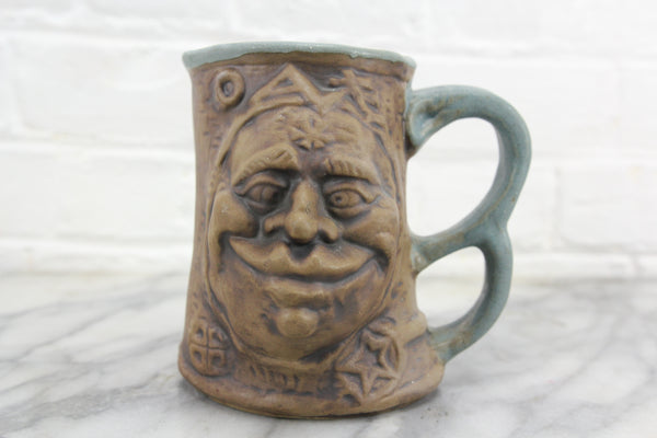 Jim Rumph Ceramic Troll Face Mug with Creepy Frog Inside